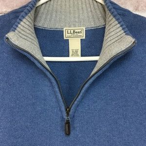 Lands End Pullover Sweater Mock Neck 1/4 Zip Shirt